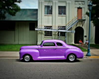 Purple Ford Photograph - Classic Street  by Perry Webster