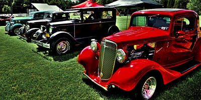 Photograph - Classic Street Rods by David Patterson