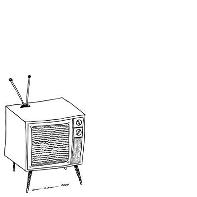 Drawing - Classic Television Set by Karl Addison