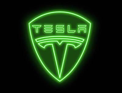 Digital Art - Classic Tesla Neon Sign by Ricky Barnard