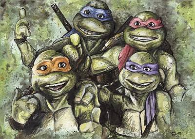 Teenage Mutant Ninja Turtles Painting - Classic Tmnt by Nate Michaels