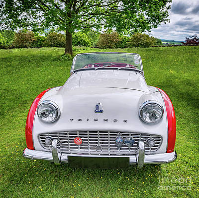 Photograph - Classic Triumph Tr3a by Adrian Evans