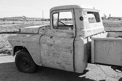 Photograph - Classic Truck On Route 66 by John McGraw
