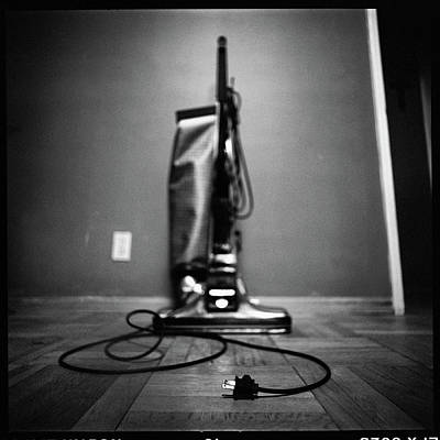 Photograph - Classic Vacuum And Cord In Bw by YoPedro
