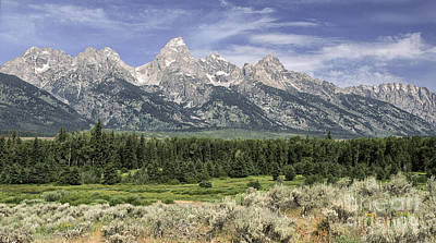 Photograph - Classic View Of The  Grandtetons by Sandra Bronstein