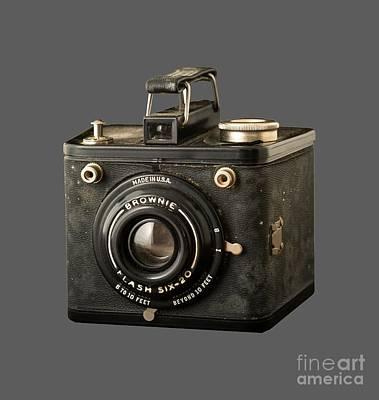 Selfie Photograph - Classic Vintage Kodak Brownie Camera Tee by Edward Fielding