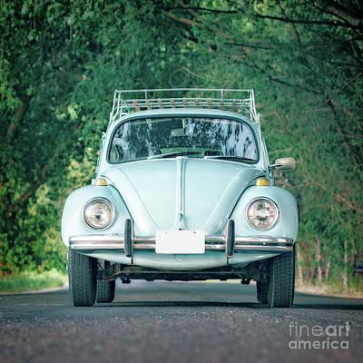 Photograph - Classic Vintage Vw Bug Blue by Edward Fielding