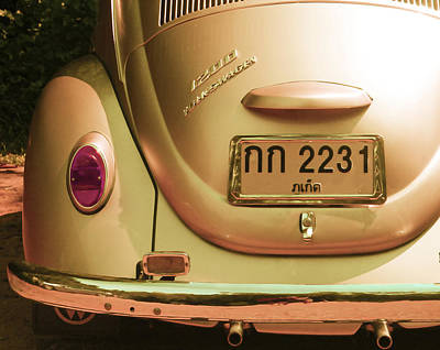Antique Collectables Photograph - Classic Vw Beetle In Thailand by Georgia Fowler