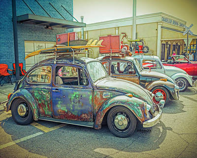 Digital Art - Classic Vw Bug by Rebecca Korpita