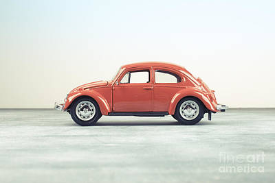 Volkswagen Beetle Photograph - Classic Vw Bug Red by Edward Fielding