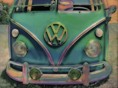 Photograph - Classic Vw Bus by Ann Powell