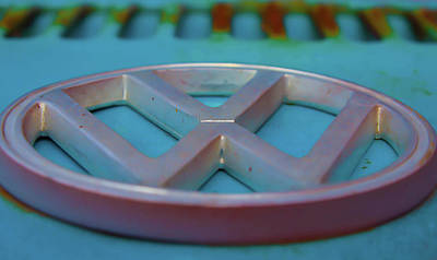 Photograph - Classic Vw Volkswagon Bug Emblem by Patti Colston