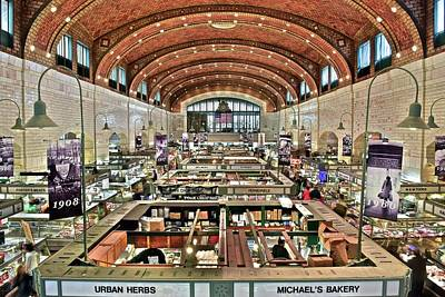 Lebron Photograph - Classic Westside Market by Frozen in Time Fine Art Photography