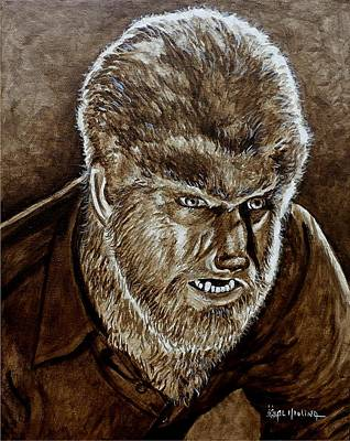 Painting - Classic Wolfman by Al  Molina