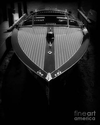 Classic Wooden Boat 2 Print by Perry Webster