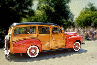 Classic Woody Station Wagon Art Print by Roger Soule
