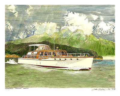 Painting - Classic Yacht Hardway Of Seattle by Jack Pumphrey