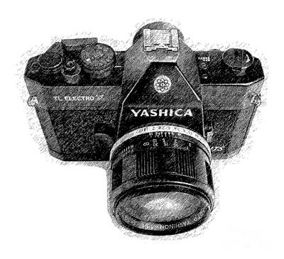 Drawing - Classic Yashica Slr Film Camera by Edward Fielding