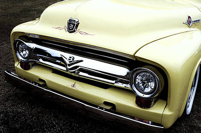 Photograph - Classic Yellow Car by Debra Forand