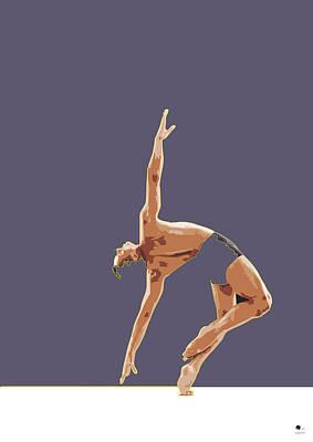 Framed Art Drawing - Classical Ballet Dancer by Joaquin Abella