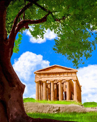 Photograph - Classical Greek Temple - Ruins Of Akragas by Mark E Tisdale