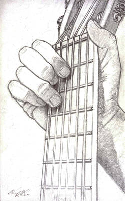 Mindful Drawing - Classical Guitar In D by Chad Glass