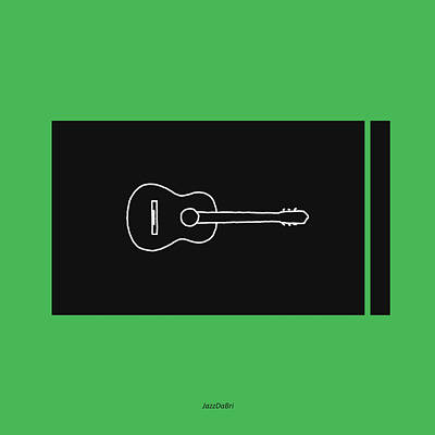 Digital Art - Classical Guitar In Green by David Bridburg
