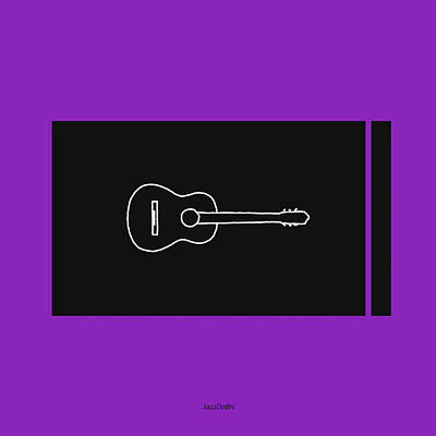 Digital Art - Classical Guitar In Purple by David Bridburg