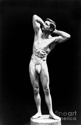 Suggestive Photograph - Classical Pose, Nude Male Model, 1893 by Science Source