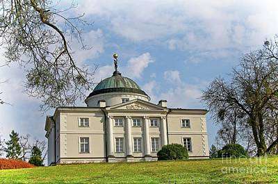 Photograph - Classicist Palace Lubostron In Poland by Elzbieta Fazel