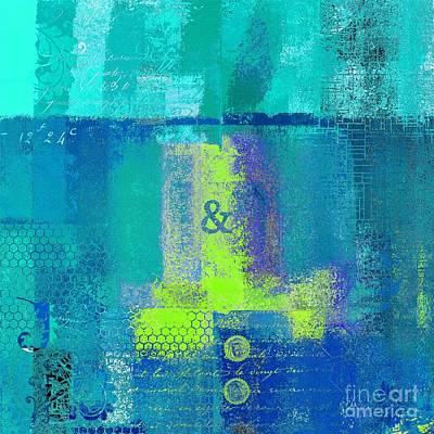 Turquoise Abstract Art Digital Art - Classico - S03c26 by Variance Collections