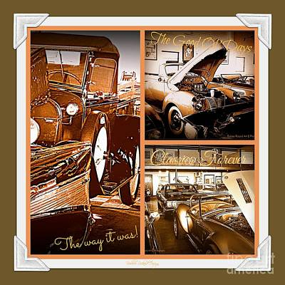 Photograph - Classics Forever Collage by Bobbee Rickard