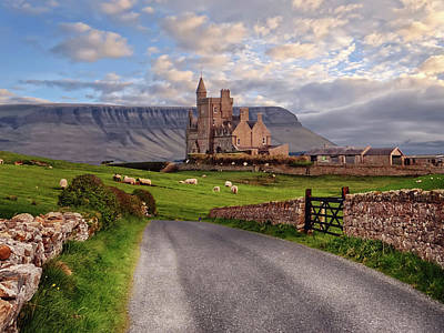 Digital Art - Classiebawn Castle Co. Sligo, On Mullaghmore Peninsula, Ireland - Benbulben In The Background by John Carver