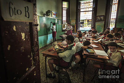 Photograph - Classroom School Work by Craig J Satterlee