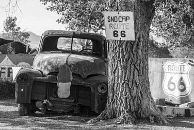 Photograph - Classsic Truck On Route 66 by John McGraw