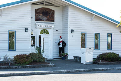 Photograph - Clatskanie Public Library by Tom Cochran