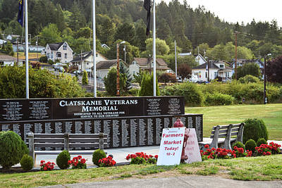 Photograph - Clatskanie Veterans Memorial by Tom Cochran