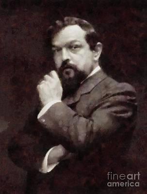 Claude Debussy, Composer By Sarah Kirk Art Print