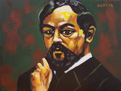 Wall Art - Painting - Claude Debussy by Stuart Glazer
