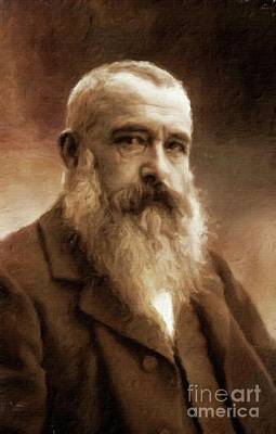 Vintage Painter Painting - Claude Monet, Artist By Mary Bassett by Mary Bassett