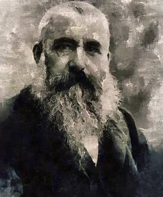 Claude Monet, Artist Art Print by Mary Bassett