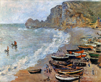 Photograph - Claude Monet: Etretat, 1883 by Granger