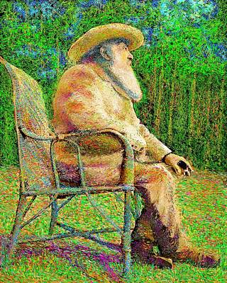 Painting - Claude Monet In His Garden by Hidden Mountain