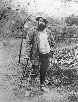 Of Painter Photograph - Claude Monet In His Garden by Theodore Robinson
