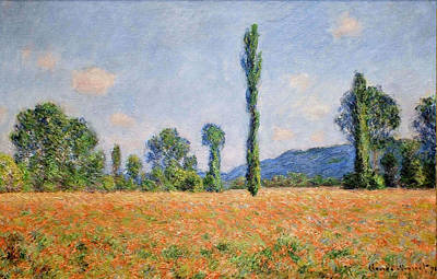 Poppies Field Painting - Claude Monet by Poppy Field