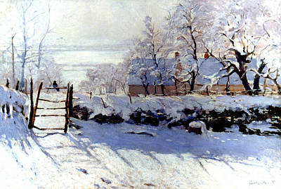 Claude Monet: The Magpie Art Print by Granger