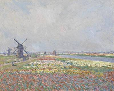 Tulips Painting - Claude Monet - Tulip Fields In Holland by Celestial Images