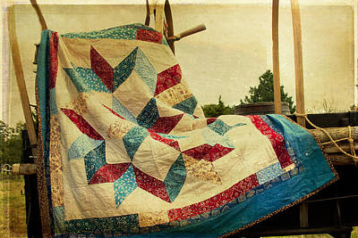 Cattle Drive Photograph - Claude's Centennial Quilt by Toni Hopper