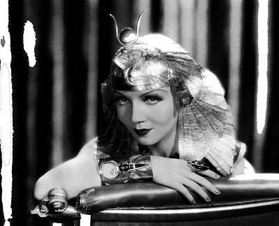 Winter Animals - Claudette Colbert publicity photo as Cleopatra in Cleopatra 1934 color added 2015 by David Lee Guss