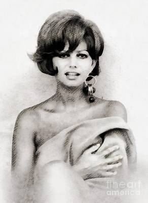 Musicians Royalty-Free and Rights-Managed Images - Claudia Cardinale, Vintage Actress by John Springfield